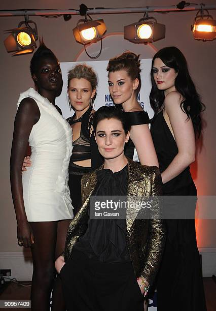 Sheila Attim Hayley Morley Erin O'Connor Laura Catterall and Lucy Jane from the 12 UK model Agency attend the 'All Walks Beyond The Catwalk' launch...