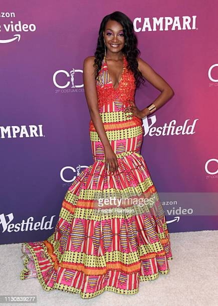 Sheila Boateng attends The 21st CDGA at The Beverly Hilton Hotel on February 19 2019 in Beverly Hills California
