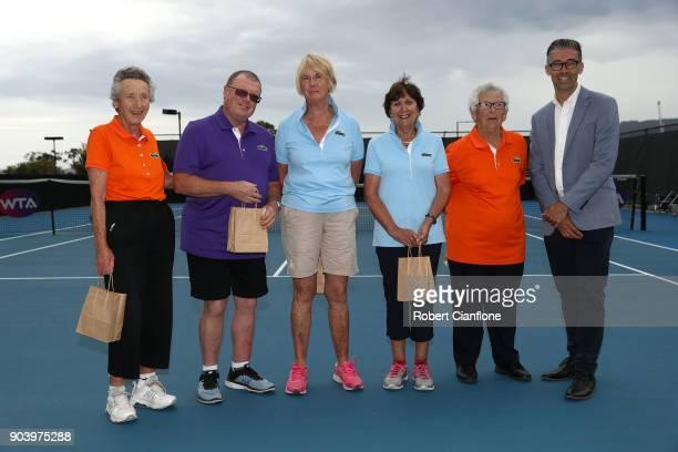 Sheila Cocker Dale Forwood Jo Lynch Pam Roberts Ailsa Richards and Darren Sturgess Hobart International Tournament Director celebrate 25 years of the...