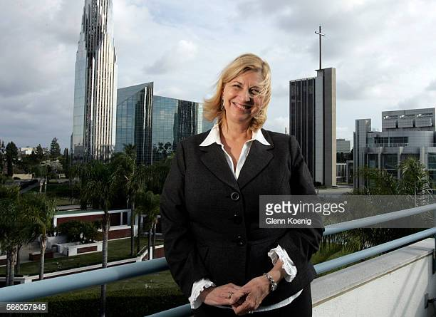 Sheila Coleman Schuller overlooks the Crystal Cathedral campus in Garden Grove on February 4, 2010. The story is about the financial demise of the...