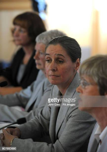 Sheila Dilkes Dr Carole Smith Alison O'Sullivan and Bron Sanders members of the serious case review panel talk to the media about the Shannon...