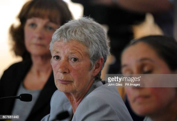 Sheila Dilkes Dr Carole Smith and Alison O'Sullivan members of the serious case review panel talk to the media about the Shannon Matthews case at a...