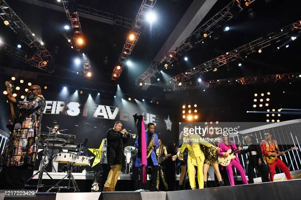 Sheila E and members of The Revolution perform onstage during the 62nd Annual GRAMMY Awards Let's Go Crazy The GRAMMY Salute To Prince on January 28...