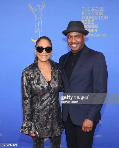 Sheila E and Ray Chew attend Jackie Robinson Foundation Robie Awards Dinner at Marriot Marquis on March 02 2020 in New York City