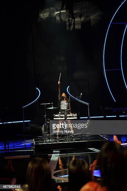 Sheila E performs at Black Girls Rock 2015 at NJ Performing Arts Center on March 28 in Newark New Jersey