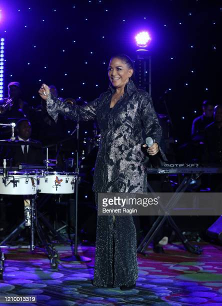Sheila E. Performs at Jackie Robinson Foundation Robie Awards Dinner at Marriot Marquis on March 02, 2020 in New York City.