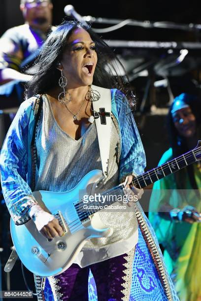 Sheila E performs at the AHF World AIDS Day Concert on December 1 2017 in Miami Florida