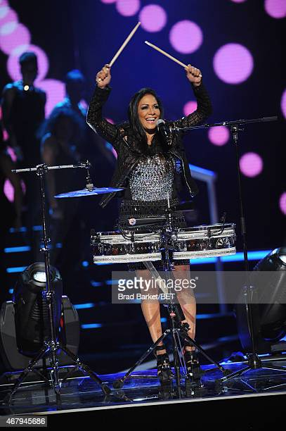 Sheila E performs on 'Black Girls Rock' BET Special at NJPAC – Prudential Hall on March 28 2015 in Newark New Jersey