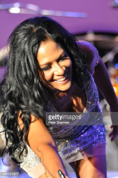 Sheila E performs onstage at the Playboy Jazz Festival at the Hollywood Bowl on June 16 2012 in Los Angeles California