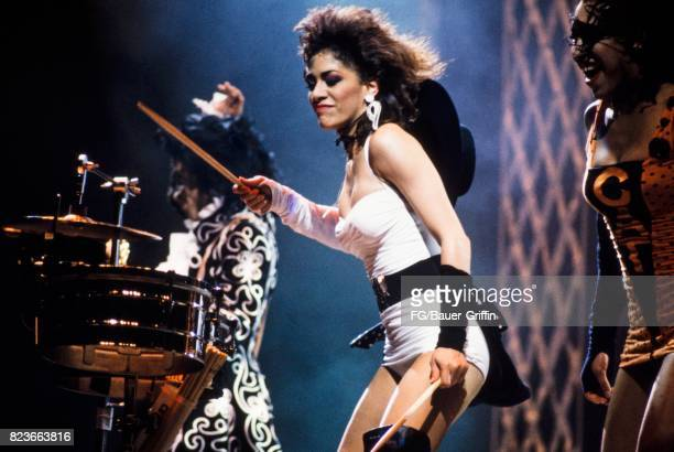 Sheila E with Prince and Cat during a Lovesexy concert on July 28 1988 in London United Kingdom 170612F1