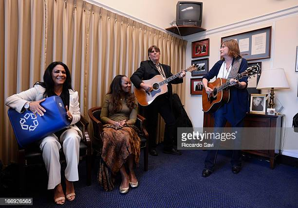 Sheila E Yolanda Adams and members of the Recording Academy perform during GRAMMYs on the Hill/ Lobby Day on Capitol Hill on April 18 2013 in...