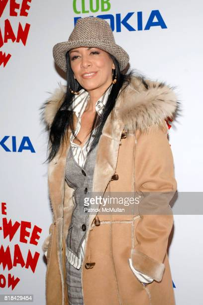 Sheila Escovedo attends The Pee Wee Herman Show Opening Night at Club Nokia on January 20 2010 in Los Angeles California