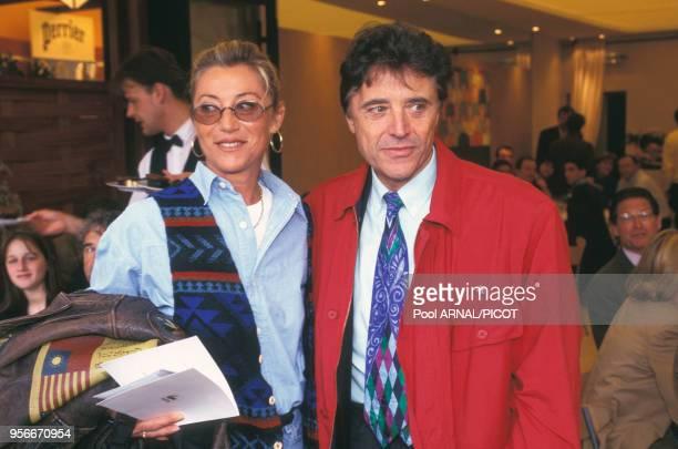 Sheila et Sacha Distel au tournoi de tennis de Roland Garros en juin 1995 Paris France