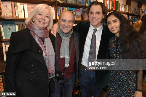 Sheila Ferris David Suchet Alexander Newley and Sheila Raman attend the launch of new book 'Unaccompanied Minor' by Alexander Newley at Daunt Books...
