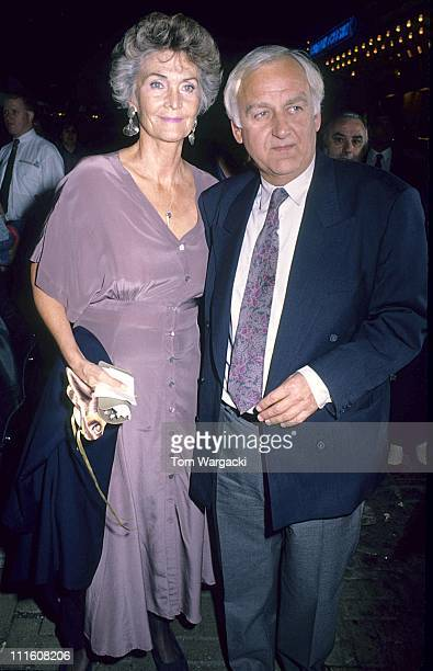 Sheila Hancock and John Thaw during Shylock Theatre Performance Arrivals July 10 1989 at Phoenix Theatre in London Great Britain