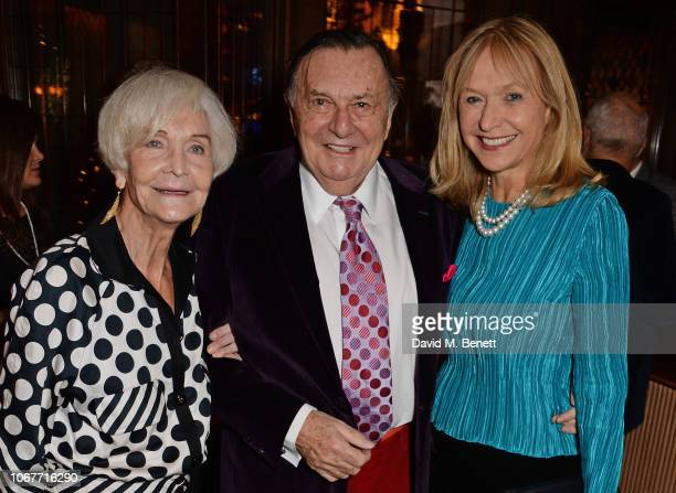 Sheila Hancock, Barry Humphries and Lizzie Spender attend the annual 'One Night Only At The Ivy' in aid of Acting For Others on December 2, 2018 in...