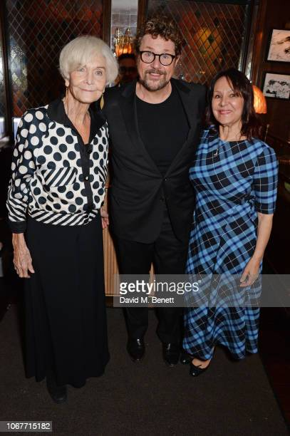 Sheila Hancock Michael Ball and Arlene Phillips attend the annual 'One Night Only At The Ivy' in aid of Acting For Others on December 2 2018 in...