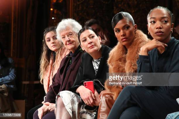 Sheila Hicks MarieAgnes Gillot Tina Kunakey and Naomi Ackie attend the Stella McCartney show as part of the Paris Fashion Week Womenswear Fall/Winter...