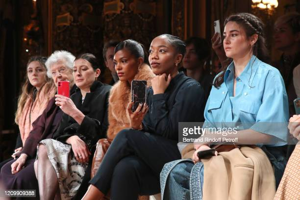 Sheila Hicks MarieAgnes Gillot Tina Kunakey Naomi Ackie and Shailene Woodley attend the Stella McCartney show as part of the Paris Fashion Week...
