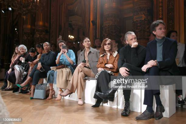 Sheila Hicks MarieAgnes Gillot Tina Kunakey Naomi Ackie Shailene Woodley Caitriona Balfe Isabelle Huppert Alasdhair Willis and Antoine Arnault attend...
