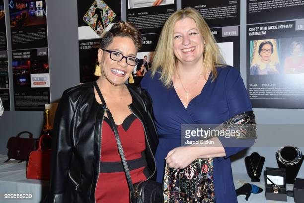 Sheila Johnson and Kate Weinstein attend Bailey House Gala Auction 2018 at Pier 60 Chelsea Piers on March 8 2018 in New York City