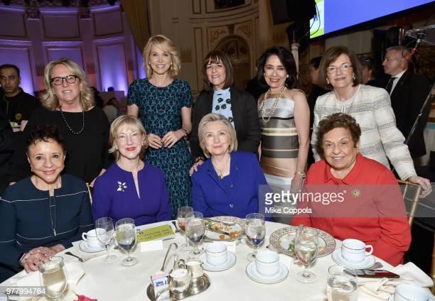 Sheila Johnson Linda A Willett Hillary Clinton Donna Shalala Deirdre Quinn Paula Zahn Kay Unger Joyce F Brown and Rita Crotty attend the 8th Annual...