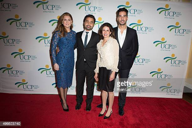Sheila Lennon Ramazan Patak Lisa Falcao Santangello and Javier Gomez attend the 6th Annual UCP Of NYC Santa Project Party and auction benefiting...
