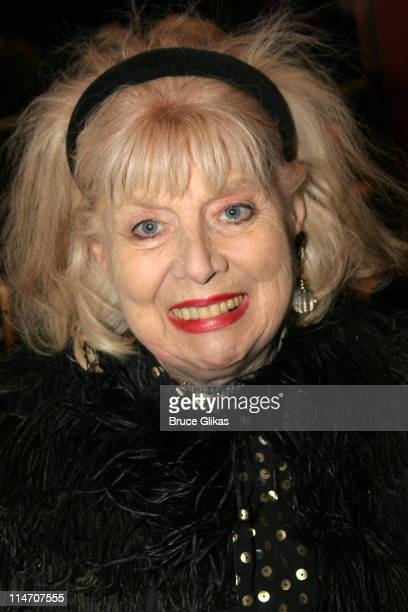 Sheila MacRae during Sarah Jones' Bridge and Tunnel Broadway Opening Night Arrivals at Helen Hayes Theatre in New York City New York United States