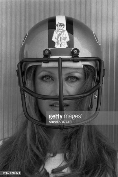 Sheila marraine d'un match de football américain le 8 juin 1976 à Paris, France