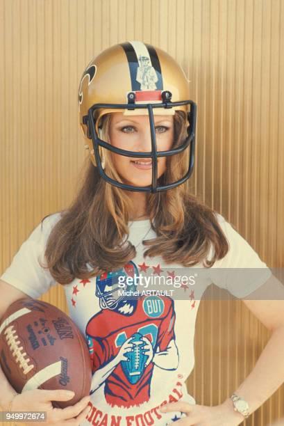 Sheila marraine d'un match de football américain le 8 juin 1976 à Paris, France.