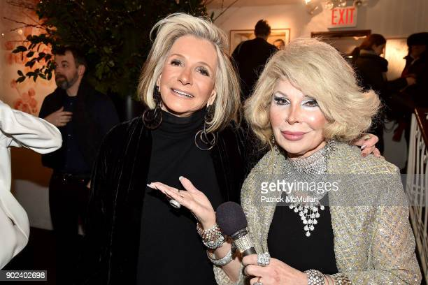 Sheila Nevins and Linda Axelrod attend Joan Kron's 90th Birthday 'Take My NosePlease' Release Party at Michael's on January 7 2018 in New York City