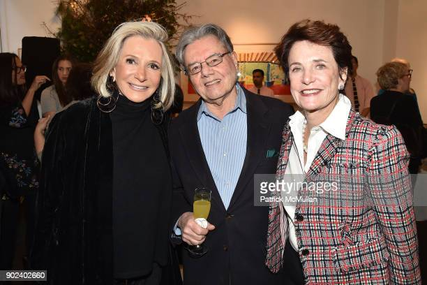 Sheila Nevins Harvey Feuerstein and Nancy Novograd attend Joan Kron's 90th Birthday 'Take My NosePlease' Release Party at Michael's on January 7 2018...