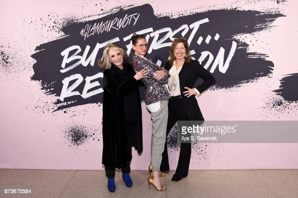 Sheila Nevins Jenna Lyons and guest pose during Glamour Celebrates 2017 Women Of The Year Live Summit at Brooklyn Museum on November 13 2017 in New...