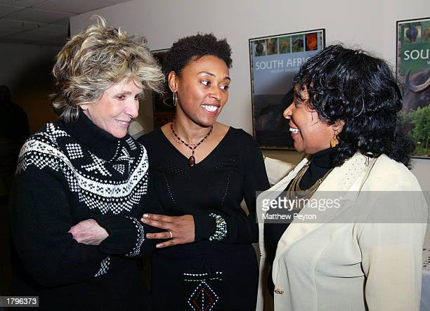 HBO EVP Sheila Nevins producer Sherry Simpson and Sherry Simpson's mother attend the New York premiere of Artisan's Amandla A Revolution In Four Part...