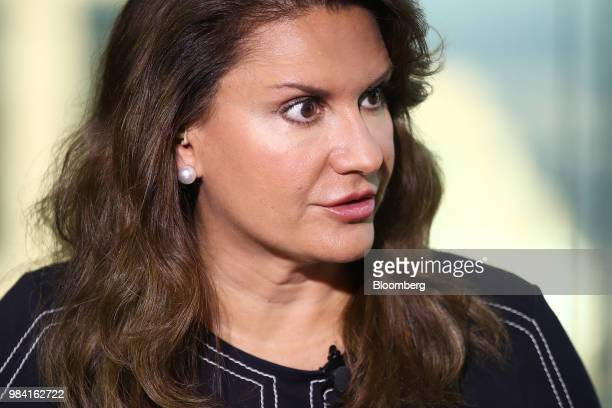 Sheila Patel chief executive officer of the international division at Goldman Sachs Asset Management speaks during a Bloomberg Television interview...