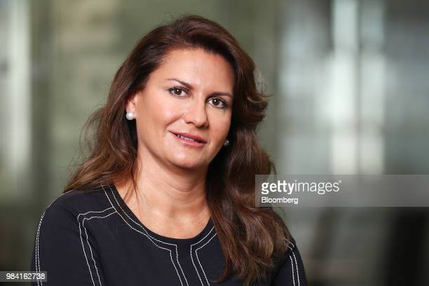 Sheila Patel chief executive officer of the international division at Goldman Sachs Asset Management poses for a photograph following a Bloomberg...
