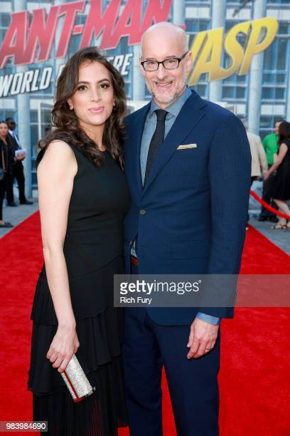 Sheila Reed and Peyton Reed attend the premiere of Disney And Marvel's 'AntMan And The Wasp' on June 25 2018 in Hollywood California