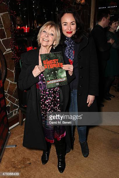 Sheila Reid and Samantha Spiro attend the after party for the press night of Ghost Stories at on February 27 2014 in London England