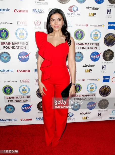 Sheila Shah attends the 16th annual 'Gathering for Cure' black tie awards gala of Brain Mapping Foundation on March 16 2019 in Los Angeles California