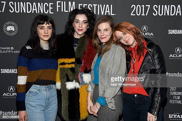 Sheila Vand Annie Clark and Lindsay Burdge attend the 'XX' Premiere on day 4 of the 2017 Sundance Film Festival at Library Center Theater on January...