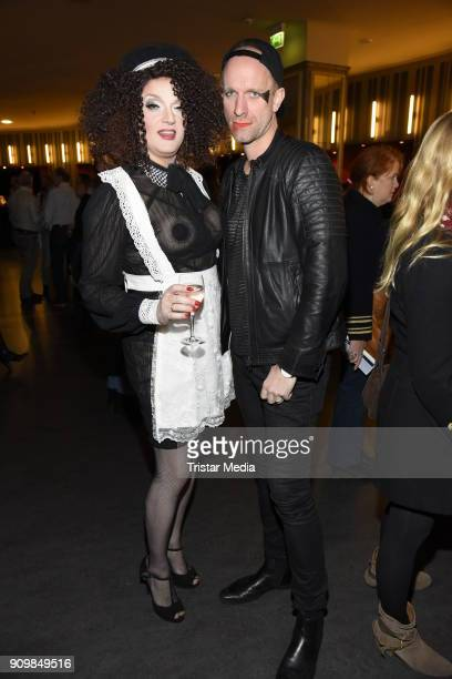 Sheila Wolf and Daniel Termann attend the Richard O'Brien's Rocky Horror Show premiere on January 24 2018 in Berlin Germany