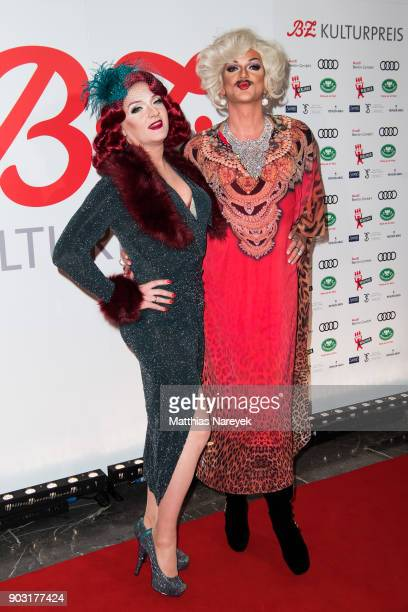Sheila Wolf and Gloria Viagra attend the BZ Kulturpreis 2018 at Staatsoper im Schiller Theater on January 9 2018 in Berlin Germany