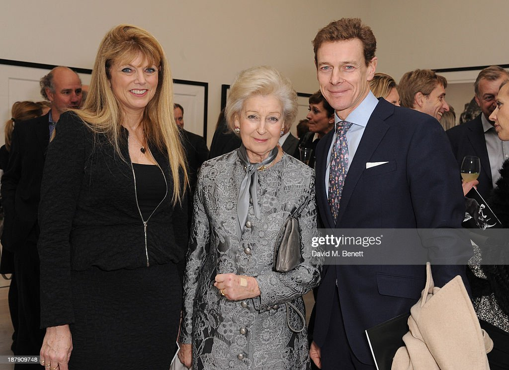 Sheila Yarrow, Princess Alexandra and James Ogilvy attend the private view of ENCOUNTER the stunning wildlife photography of David Yarrow at Saatchi Gallery on November 13, 2013 in London, England.