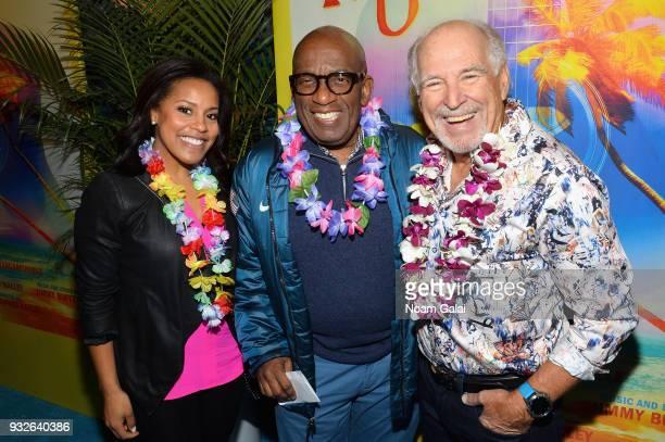 Sheinelle Jones Al Roker and Jimmy Buffett attend the Broadway premiere of Escape to Margaritaville the new musical featuring songs by Jimmy Buffett...