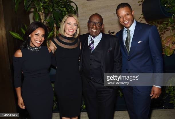 Sheinelle Jones Dylan Dreyer Al Roker and Craig Melvin attend the Hollywood Reporter's Most Powerful People In Media 2018 at The Pool on April 12...