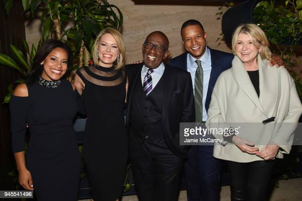 Sheinelle Jones Dylan Dreyer Al Roker Craig Melvin and Martha Stewart attend the Hollywood Reporter's Most Powerful People In Media 2018 at The Pool...