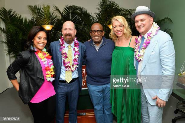 Sheinelle Jones Greg Garcia Al Roker Kelly Devine and Mike O'Malley attend the Broadway premiere of Escape to Margaritaville the new musical...