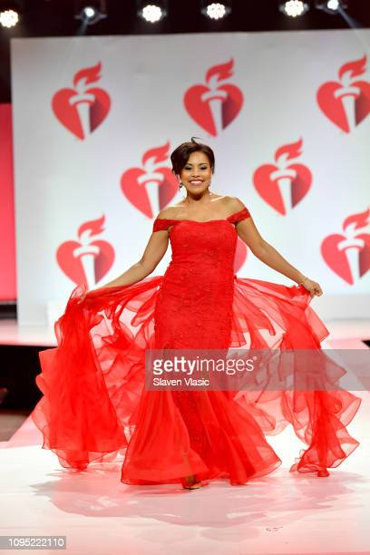 Sheinelle Jones walks the runway for The American Heart Association's Go Red For Women Red Dress Collection 2019 Presented By Macy's at Hammerstein...