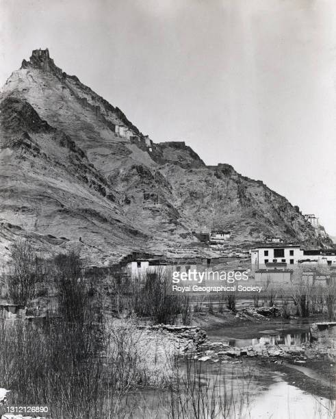 Shekar Dzong from the south east. By J.B. Noel. Mount Everest Expedition 1922.