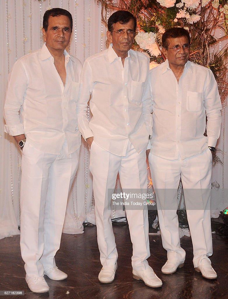 Shekhar Ravjiani and AbbasMustan at Bipasha Basu and Karan Singh Grovers wedding reception ceremony at St Regis Hotel in Mumbai